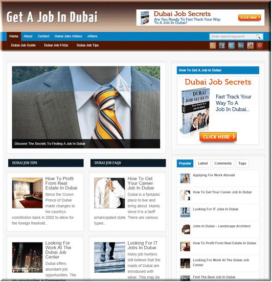 Dubai Jobs PLR Site